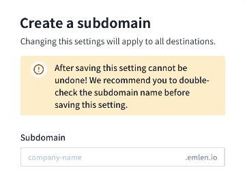 Custom subdomain